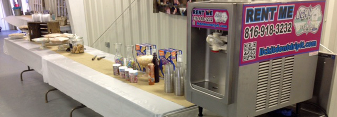Rent Ice Cream Machines, Sundae Bars, and Toppings!